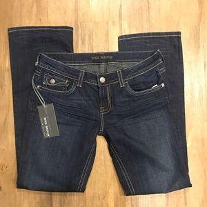 Mek Denim TACOMA bootcut dark denim jeans NWT